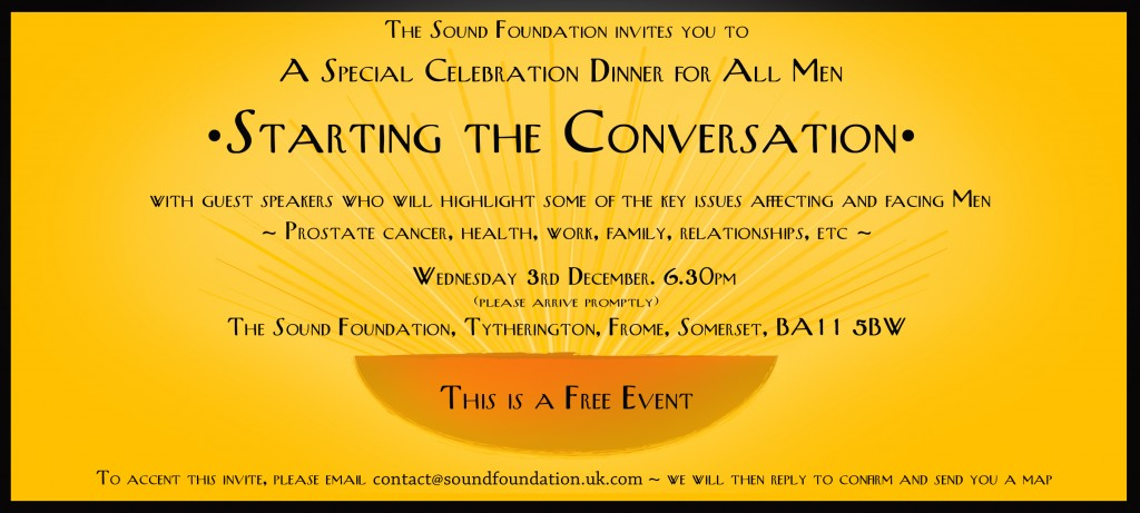Mens health starting the conversation sound foundation invitation stopboris Choice Image